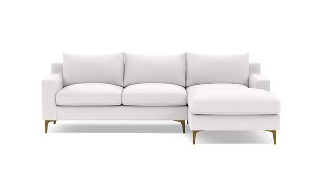 SLOAN Right Chaise Sectional Pearl - Interior Define