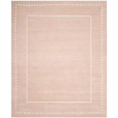 Safavieh Handmade Bella Alverta Modern Floral Wool Rug - 8' x 10' - Light Pink/Ivory - Overstock