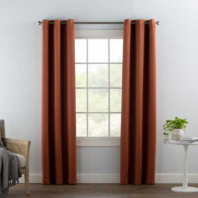 "Wayfair Basics Solid Blackout Grommet Single Curtain Panel in Terracotta Red  84"" x 40"" - Wayfair"