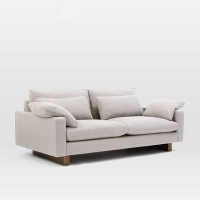 "Harmony Sofa Walnut Leg, 82"" Length, Standard 41""Depth, Eco Weave Upholstery - West Elm"