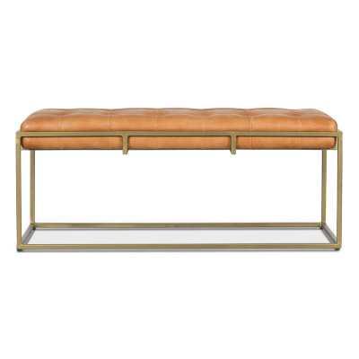 Genuine Leather Bench - Wayfair