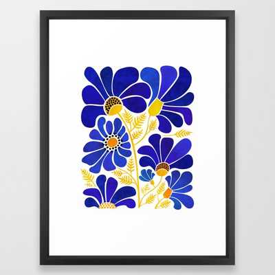 The Happiest Flowers - Vector Black - Society6