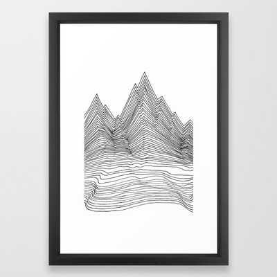 Graphic Line mountain Framed Art Print - Society6