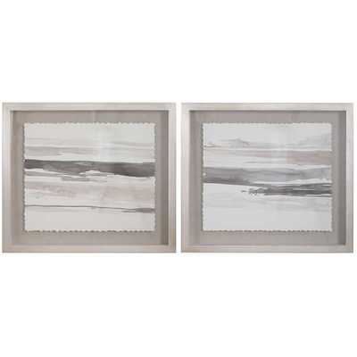 NEUTRAL LANDSCAPE FRAMED PRINTS, S/2 - Hudsonhill Foundry