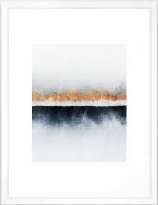 "Horizon Framed Art Print, Vector White, 20"" X 26"" - Society6"