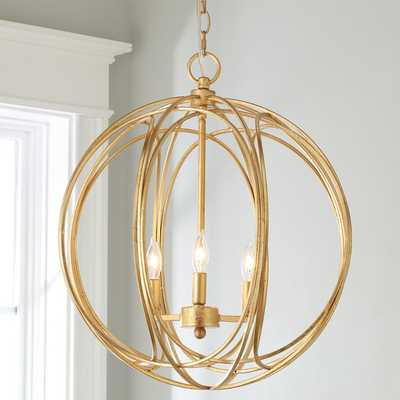 LUNA 3 LIGHT CIRCLET CHANDELIER - LARGE - Shades of Light