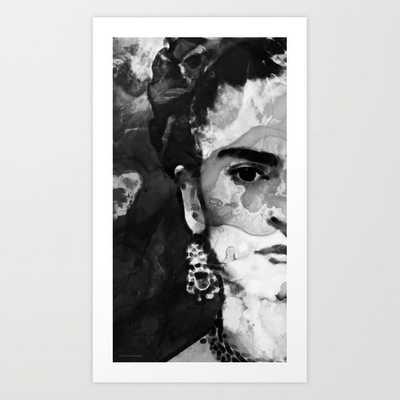 "Black And White Frida Kahlo by Sharon Cummings  Art Print 14 x 23"" - Society6"