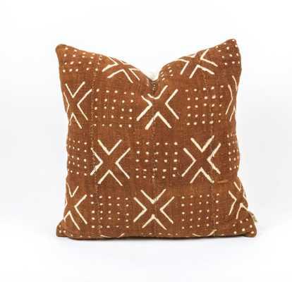 Tiki Pillow design by Bryar Wolf - rust, 12x20 - Burke Decor