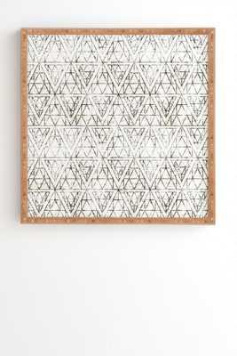 RUSTIC DIAMOND Framed Wall Art - Wander Print Co.