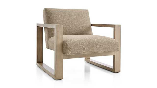 Dante Chair - Evere Hopsack fabric, Shale leg - Crate and Barrel