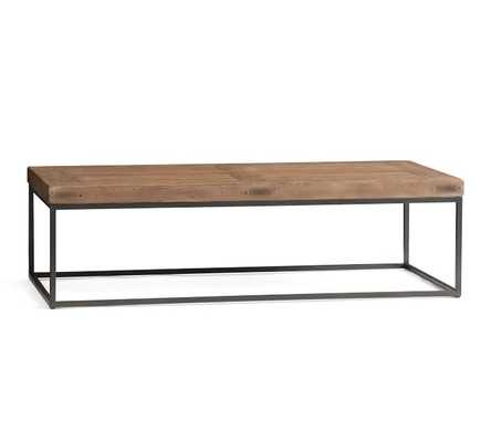 "Malcolm Coffee Table, Glazed Pine, 60""L - Pottery Barn"