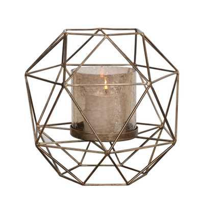 Myah Geometric Gold Candleholder - Hudsonhill Foundry