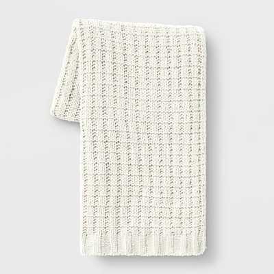 Chenille Throw Blanket - Threshold - White - Target