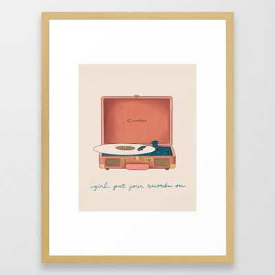 Girl, Put Your Records On Framed Art Print - Society6