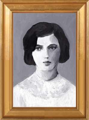 """Ruth - 10"""" x 14"""" - Gold Leaf Wood, frame - Artfully Walls"""