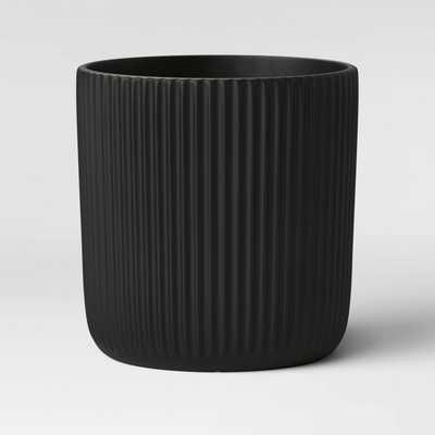 Ribbed Polypropylene Floor Planter Black - Project 62™ - Target