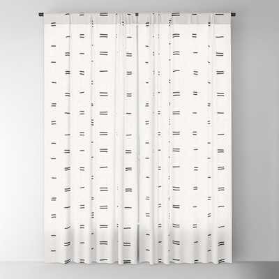 HAMMAH MUDCLOTH Blackout Curtain Set of 2 - Society6