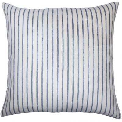 Maaike Striped Pillow Blue - poly fill - Linen & Seam