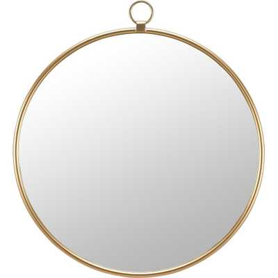 FirsTime & Co.® Marshall Gold Round Mirror, American Crafted, Gold, Mirror, 32.5 x 1 x 36 in - 32.5 x 1 x 36 in - Overstock