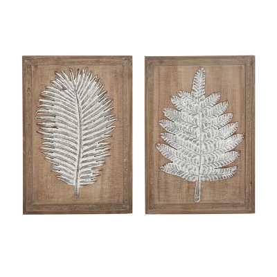 2 Piece Natural Leaves Wall Décor Set - Wayfair