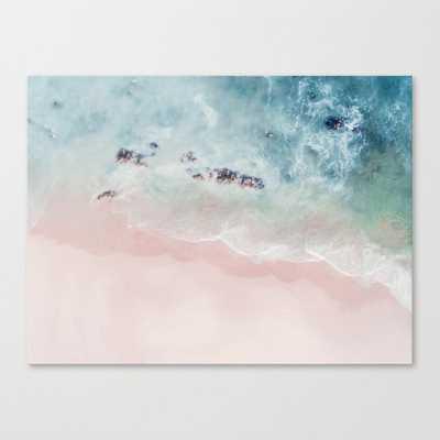 Ocean Pink Blush Art Canvas Print Large - Society6
