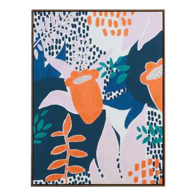 Interpretive Foliage By André Frey Framed Canvas Wall Art - World Market/Cost Plus