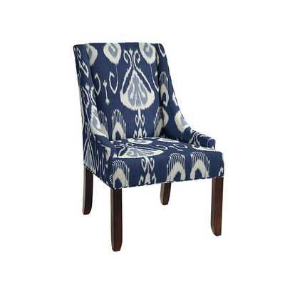 Gramercy Upholstered Chair - Toscana Ikat Blue - Ballard Designs