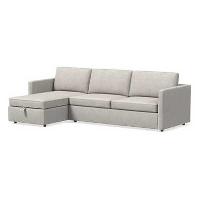 Harris Sectional Set 04: Left Arm Storage Chaise and Right Arm Sleeper Sofa - West Elm