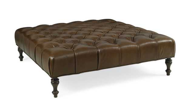 NELL LEATHER TUFTED COCKTAIL OTTOMAN - Perigold