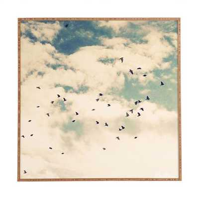 SUMMER FLIGHT SIGHT Framed Wall Art - 30x30 - Wander Print Co.