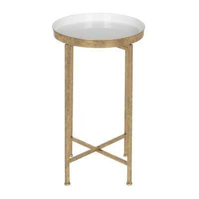 Millet Round Metal End Table - Wayfair