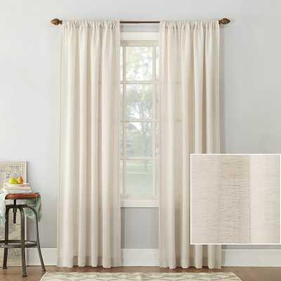 Berwick Linen Blend Solid Semi-Sheer Rod Pocket Single Curtain Panel - Wayfair