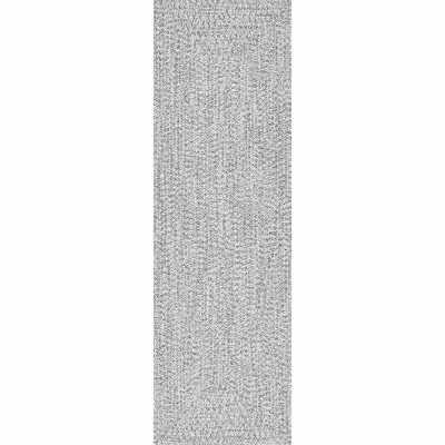 "Moser Braided Handmade Hand-Braided Gray/Off-White Indoor/Outdoor Area Rug - 7'6"" x 9'6"" - Wayfair"