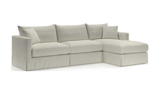 Willow 2-Piece Right Arm Chaise Sectional - Crate and Barrel