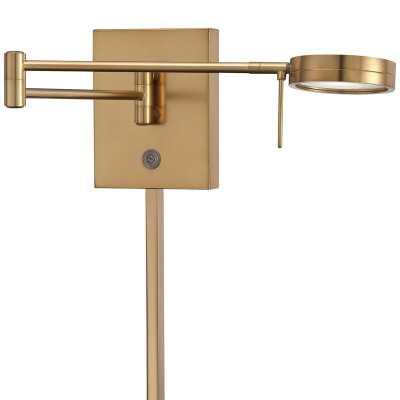 Mangino 1-Light Plug-In Swing Arm Lamp - Wayfair