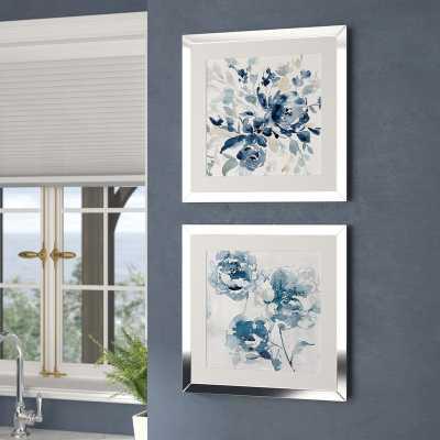 'Indigo Garden I' - 2 Piece Picture Frame Set Print on Paper - Wayfair