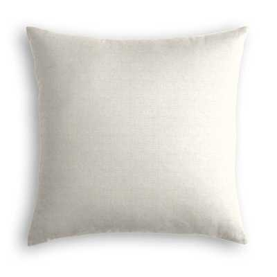 "Classic Linen Pillow, Soft Gray, 20"" x 20"" - Havenly Essentials"