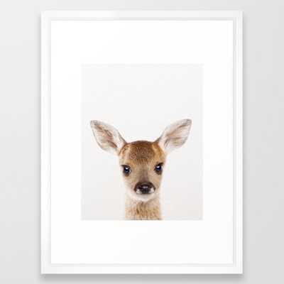 Baby Deer, Baby Animals Art Print By Synplus Framed Art Print - Society6