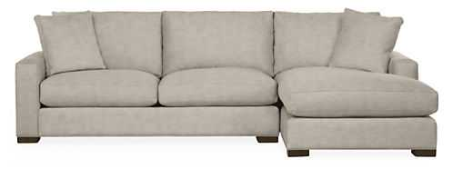 Metro Sectional, 112 Sofa with Right Arm Chaise // Destin Linen - Room & Board
