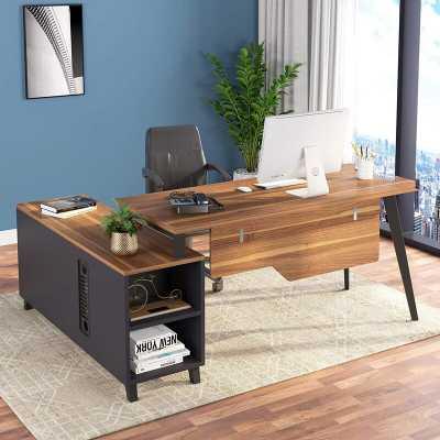 Newcastle L-Shape Executive Desk - Wayfair