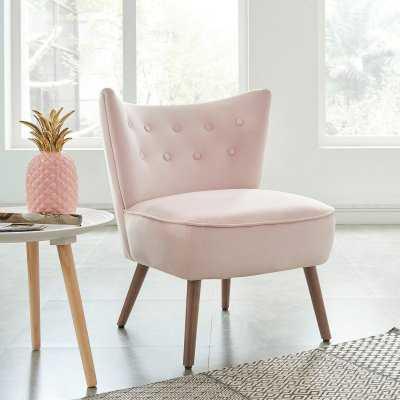 !nspire Velvet Accent Chair - Hayneedle