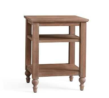 Astoria Turned Leg Bedside, Rosedale Brown - Pottery Barn