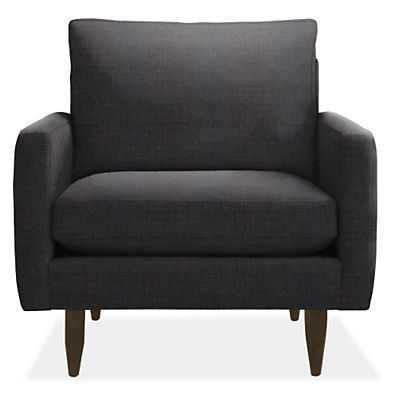 Jasper Custom Chair- Vashon Charcoal - Room & Board