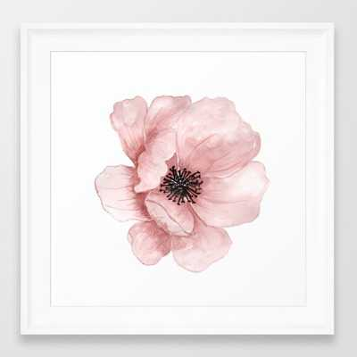 Flower 21 Art Framed Art Print - Society6