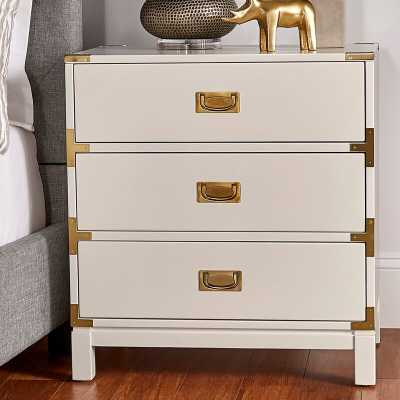 Eivind 3 Drawer Nightstand, White - Wayfair