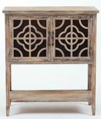 Ellianna Rustic Wood and Metal 2 Door Accent Cabinet - Wayfair