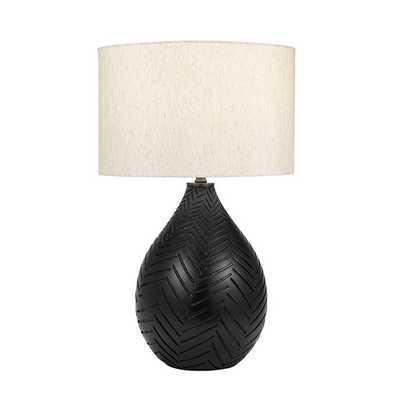 "Jacobi Chevron Carved Gourd 28"" Table Lamp - Wayfair"