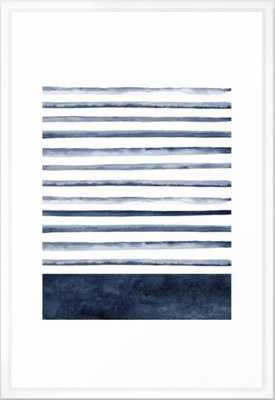 Watercolor Stripes Pattern Framed Art Print - Society6