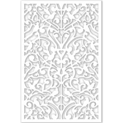 1/4 in. x 32 in. x 4 ft. White Ginger Dove Vinyl Decor Panel - Home Depot