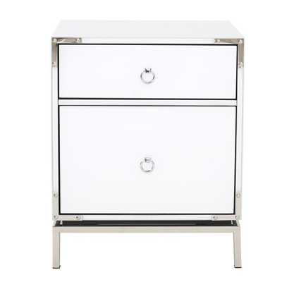 Collier 2-Drawer Side Table - Wayfair